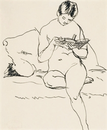 Femme nue lisant
