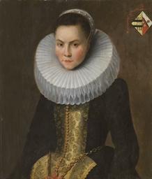 Portrait de femme à collerette