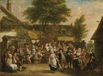 La danse villageoise ; et Scène de banquet dans un village