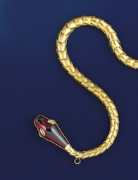 A 19th century gold, garnet an
