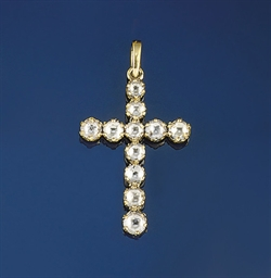 A diamond cross pendant