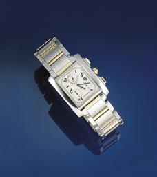 A bi-metallic quartz chronogra