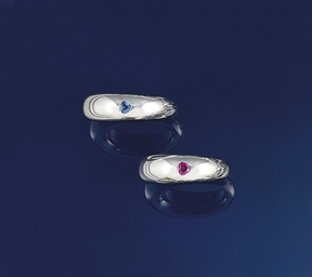 Two gem rings, by Chaumet