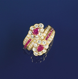 A ruby and diamond ring, by Gr