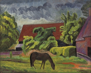 Horses grazing, Cookham