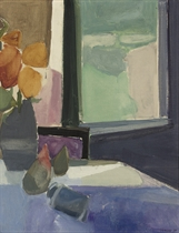 Still Life with Pears and Open Window