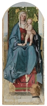 The Madonna and Child enthroned, with a donor