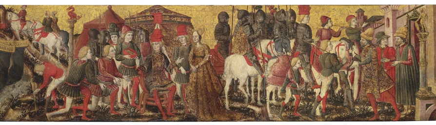 A cassone panel: The Continenc