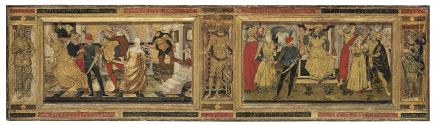A cassone panel: The story of