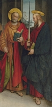 A lateral panel from an altarpiece: Saint Peter and Paul
