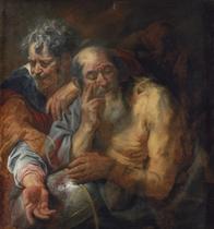 Heraclitus and Democritus