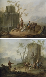 A classical landscape with a f
