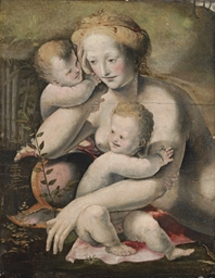 Venus with two putti: a fragme