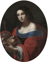 Saint Margaret with the dragon