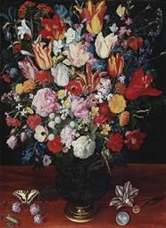 Tulips, roses, irises, carnati