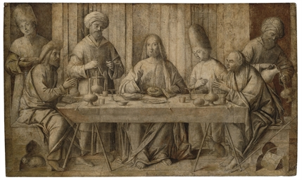 The Supper at Emmaus, en grisa