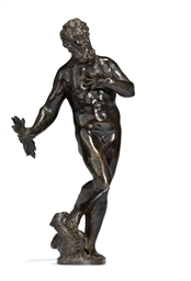 A BRONZE FIGURE OF JUPITER