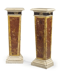 A PAIR OF RECTANGULAR MARBLE-V