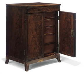 AN ENGLISH MAHOGANY COLLECTOR'