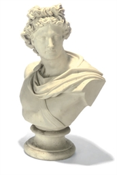 A PARIAN BUST OF APOLLO