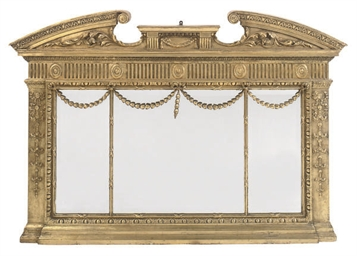A VICTORIAN GILTWOOD LANDSCAPE