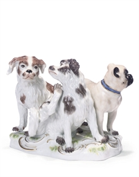 A MEISSEN PORCELAIN GROUP OF T