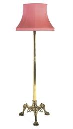 A BRASS STANDARD LAMP