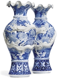 A PAIR OF BLUE AND WHITE JAPAN
