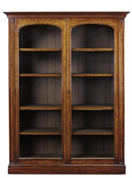 A VICTORIAN WALNUT BOOKCASE