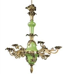 A VICTORIAN GREEN-GLAZED POTTE