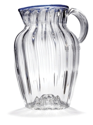 AN ENGLISH CLEAR GLASS JUG