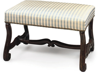 A LOUIS XIV WALNUT STOOL