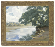 Sunshine and shade on the river Test