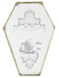 A VENETIAN GLASS MIRROR