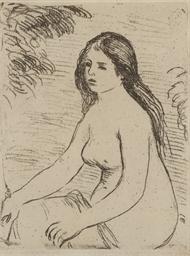 Femme nue assise (Delteil, Ste