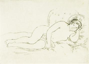 Pierre Auguste Renoir Femme Nue Couchee Tournee a Droite
