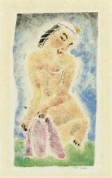 Crouching Nude Figure (Rubenst