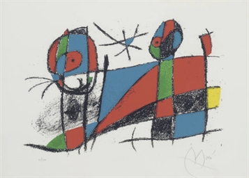 Miro Lithographs II: one plate