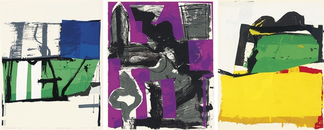 three untitled prints