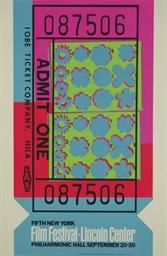 Lincoln Center Ticket (F. & S.