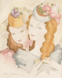 Portrait de deux Elégantes