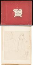 Album de vingt-cinq pages comprenant divers études de figures, des vues de cathédrales et de cloîtres anglais et des portraits de moines