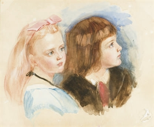 Portrait d'une jeune fille et