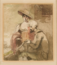 Une jeune fille et un mendiant