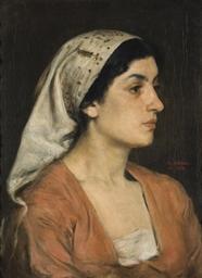 Portrait de femme au foulard