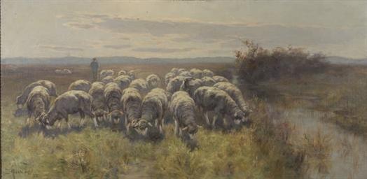 Berger et son troupeau de mout
