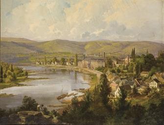 Ville au bord d'un fleuve