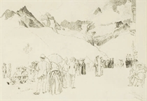 Promeneurs à Zermatt