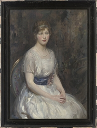 Portrait of a young lady, seat
