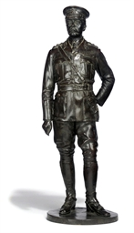 AN ENGLISH BRONZE STATUETTE OF
